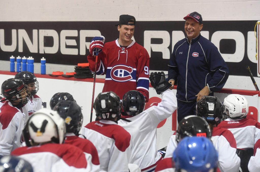Jo et ses champions Program to Welcome Children at all Canadiens Home Games
