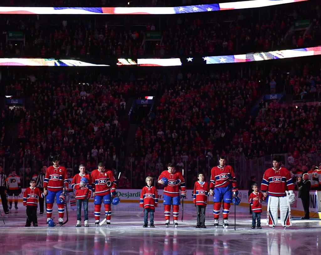 Les Canadiens rendent hommage aux enfants de Leucan