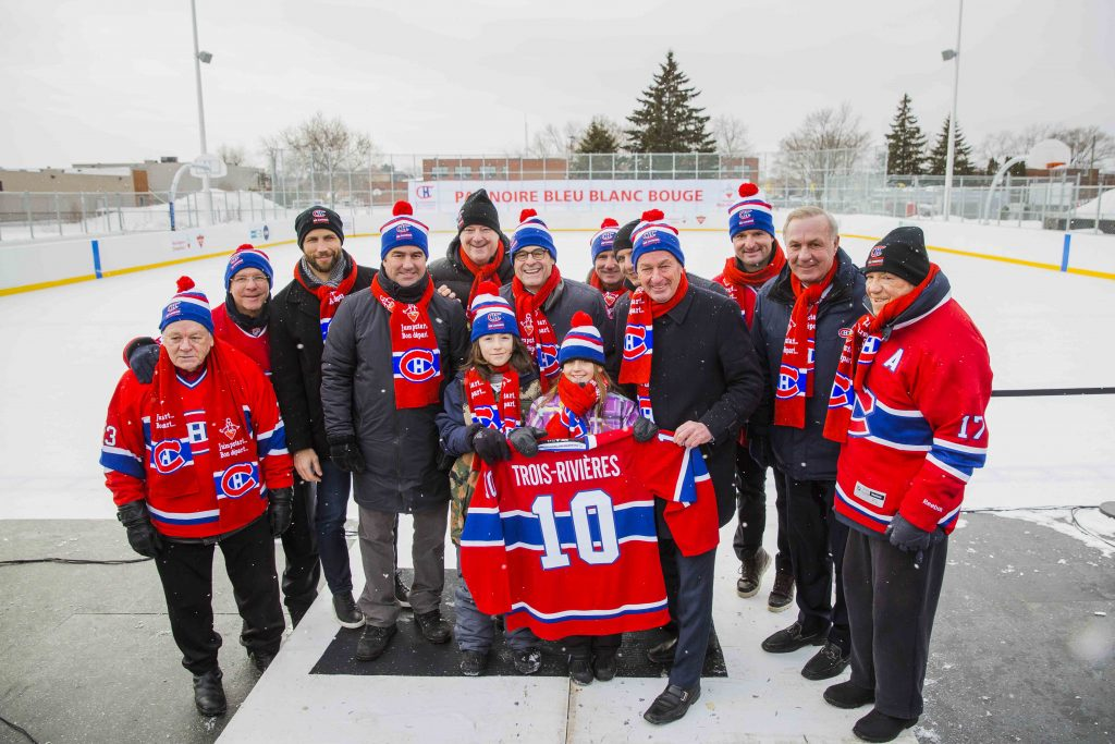 Opening of our 10th BLEU BLANC BOUGE Rink in Trois-Rivières