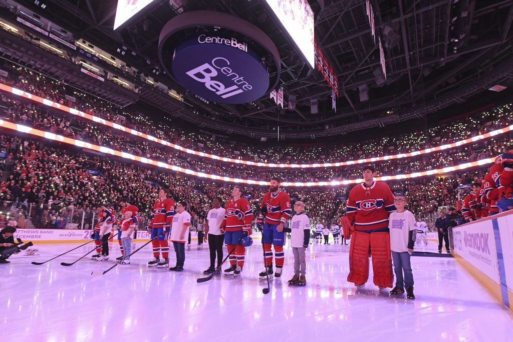 The Canadiens pay tribute to children of Leucan