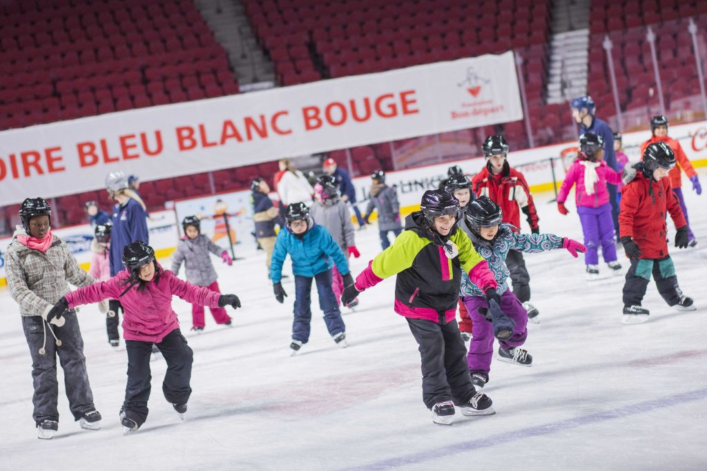Skate on the Bell Centre ice in support of our BLEU BLANC BOUGE program